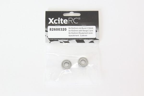 XciteRC Kugellager 8x16x5mm mit Bund 2 Stück