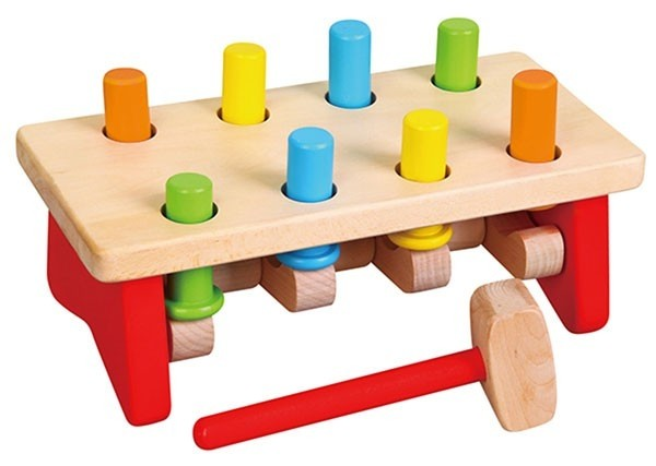 Viga Toys 59719 Hammerbank Klopfbank Spiel für Kinder