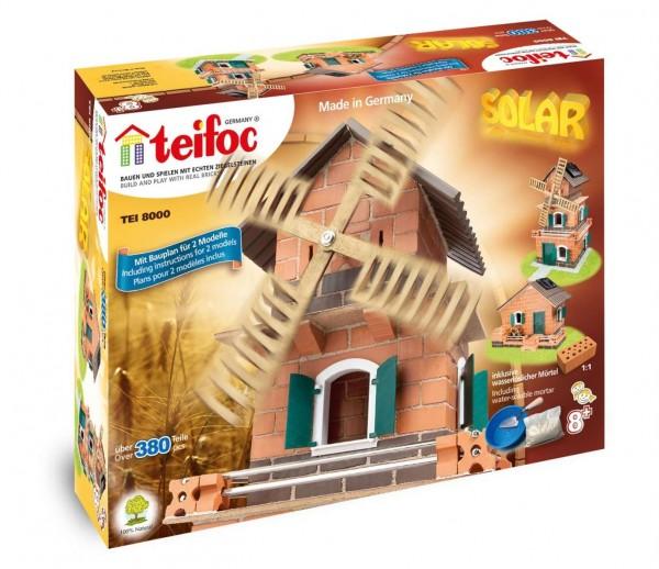 Teifoc Steinbaukästen - TEI 8000 - Wasserrad / Windmühle - Solar