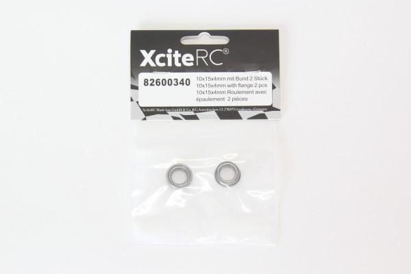 XciteRC Kugellager 10x15x4 mit Bund 2 Stück