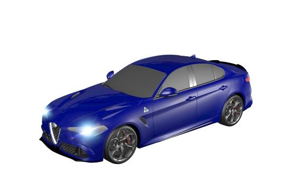 Teknotoys Alfa Romeo Giulia blau Slot-Car 1:43