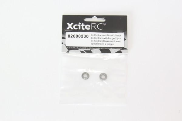 XciteRC Kugellager 6x10x3mm mit Bund 2 Stück