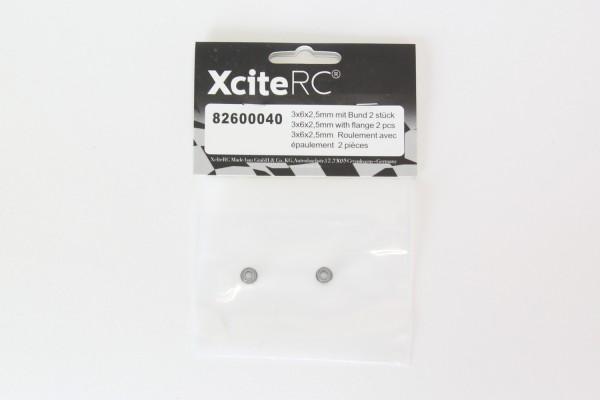 XciteRC Kugellager 3x6x2,5 mit Bund 2 Stück