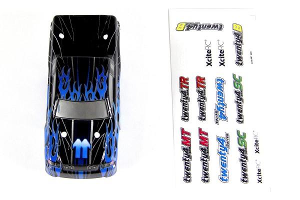 XciteRC Karosserie für Monster Truck twenty4 MT schwarz/blau