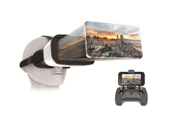 """XciteRC FPV VR-Brille mit 5""""-Bildschirm und integriertem 5.8 GHz Empfänger"""