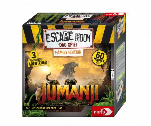 Noris Escape Room Jumanji Spiel 606101837 (Family Edition) ab 10 J. inkl. 3 Fällen und Chrono Decod