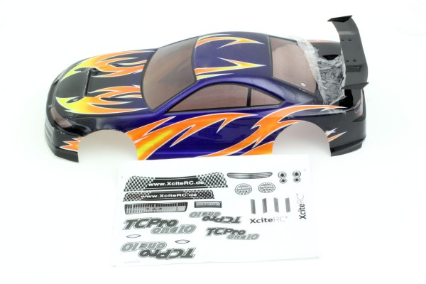 Karosserie TC one10 Pro lackiert violett + Decals