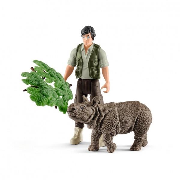 Schleich Ranger und Nashorn Starter-Set