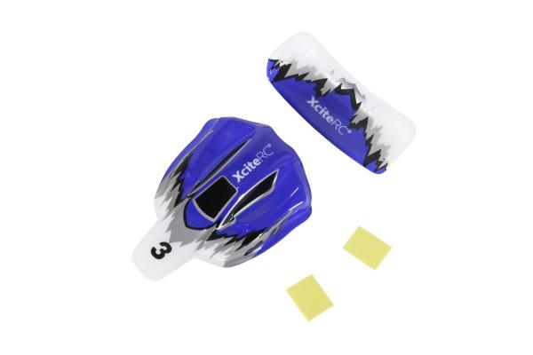 XciteRC Karosserie und Flügel für High-Speed Racebuggy 2WD RTR blau/ weiß/ silber