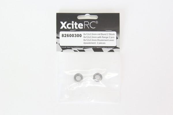 XciteRC Kugellager 8x12x3,5mm mit Bund 2 Stück