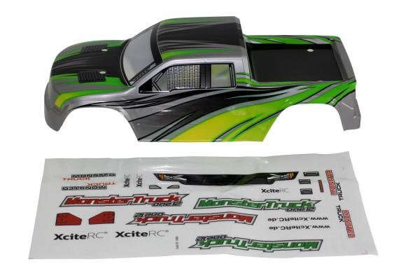 XciteRC Karosserie für Monster Truck one12 grün