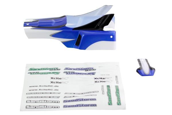 XciteRC Karosserie blau + Decals für SandStorm one10