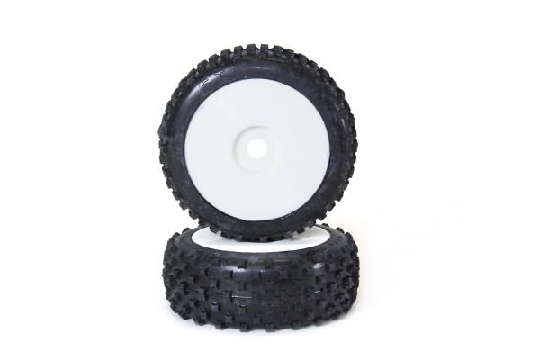 XciteRC Star Pin Buggy Soft 1:8 Komplettrad mit Felge weiß 2 Stück
