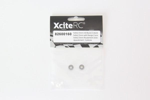XciteRC Kugellager 5x8x2,5mm mit Bund 2 Stück
