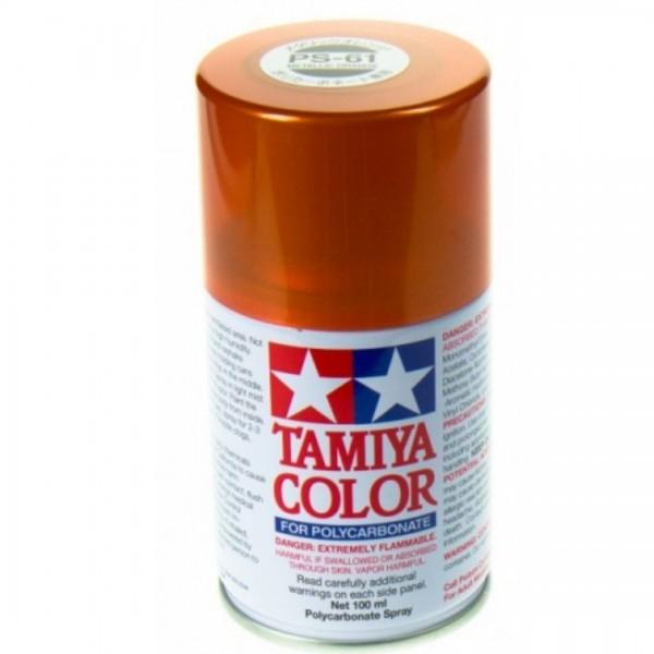 Tamiya Lexan Sprühfarbe PS-61 Metallic Orange 100ml