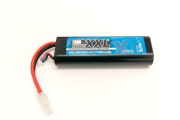 energyXXL Performance Lithium Polymer Battery Pack 35C 2S 7.4 V / 3000 mAh/ Hardcase/ JST - Anschluß