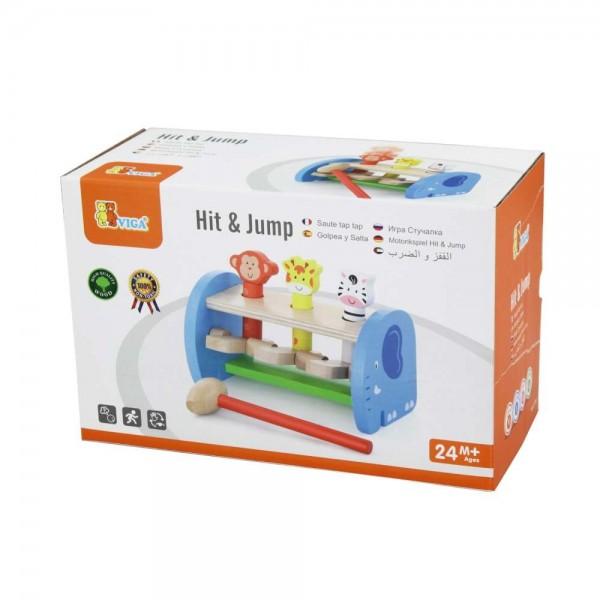 Viga Toys Hit & Jump Hammerspiel Klopfspiel Hammerbank Schlagbank Holzspielzeug Kind