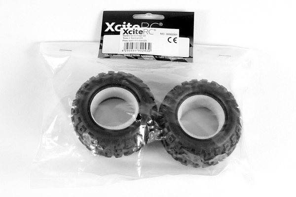 XciteRC Reifen mit Einlage (2) für Truck one16 MT