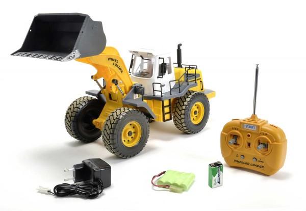 Carson 1:14 Radlader 2.4 GHz 100% RTR Baufahrzeug Bagger Funktionsmodell # 500907192