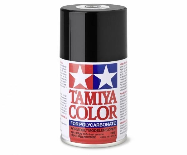 Tamiya Lexan Sprühfarbe PS-5 Schwarz Polycarbonat 100ml