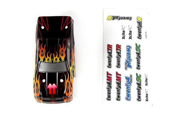 XciteRC Karosserie für Monster Truck twenty4 MT schwarz/rot