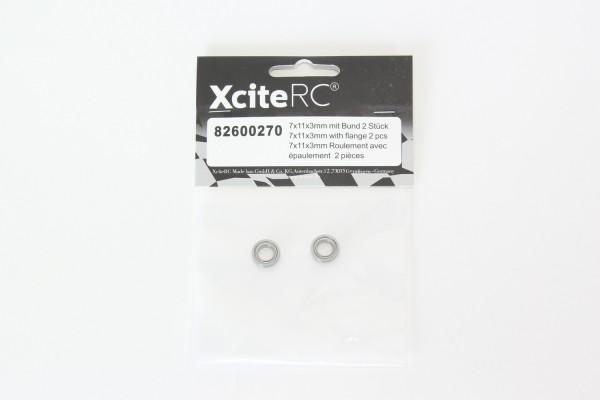 XciteRC Kugellager 7x11x3mm mit Bund 2 Stück