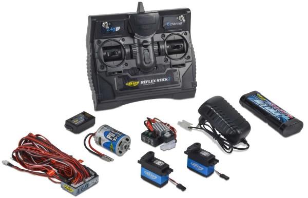 Carson Reflex Stick Truck-Set 2.4G 6 Kanal Fernsteuerung mit LED Akku Motor Regler Servo