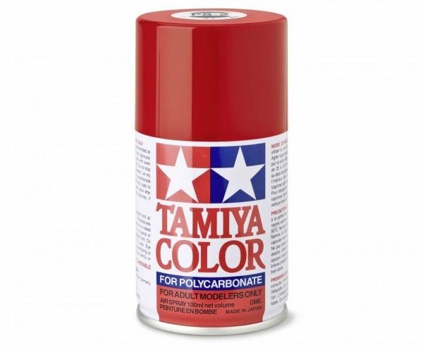 Tamiya Lexan Sprühfarbe PS-2 Rot Polycarbonat 100ml