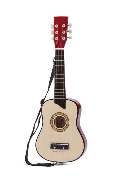 New Classic Toys - Gitarre - Musikinstrument - Spielzeug Holzgitarre - Deluxe - Naturell 1030